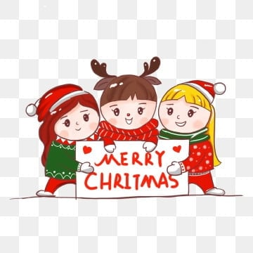 Christmas Cartoon Characters PNG Images