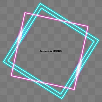 fashion geometric line neon light frame, Geometric Border, Fashion, Fluorescence PNG and PSD