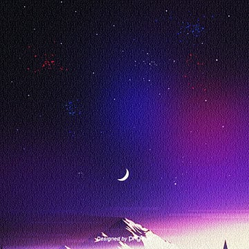 the simple star background of red  purple and blue in aesthetic atmosphere, Aestheticism, Starry Sky, Simplicity PNG and PSD