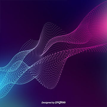 fashion colorful electronic floating particle design, Abstract, Abstract Elements, Curve PNG and PSD