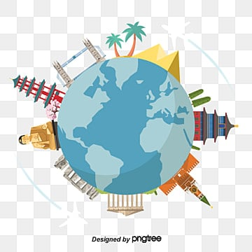 Simple plane trip around, World Clipart, Earth, Temple Of Heaven PNG and PSD