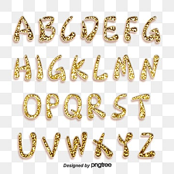 golden luxury stereo alphabet Fonts
