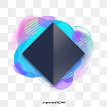 Blue Fashion Gradually Shining Colorful Abstract Creative Visual Design, Banner, Web, Geometry PNG and PSD