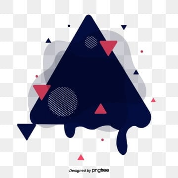 Simple Fashion Geometry Triangle Creative Fluid Visual Design, Banner, Web, Geometry PNG and PSD