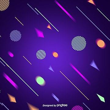 The Fashion Creative Background of Purple Geometric Lines, Triangle, Geometry, Geometric Shape PNG and PSD