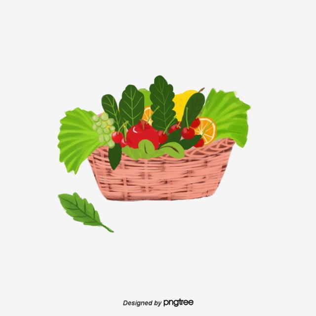 فيتنام سلة الفواكه والخضروات الطازجة تحتوي سلة عناصر توضيحية سلة فواكه ليمون كمثرى Png وملف Psd للتحميل مجانا