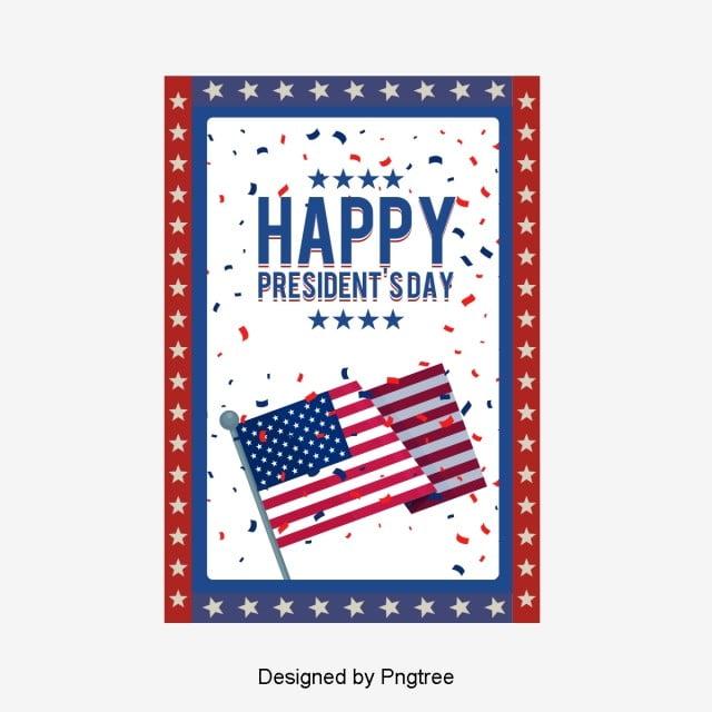 fashion creative cartoon american presidential day decoration elements