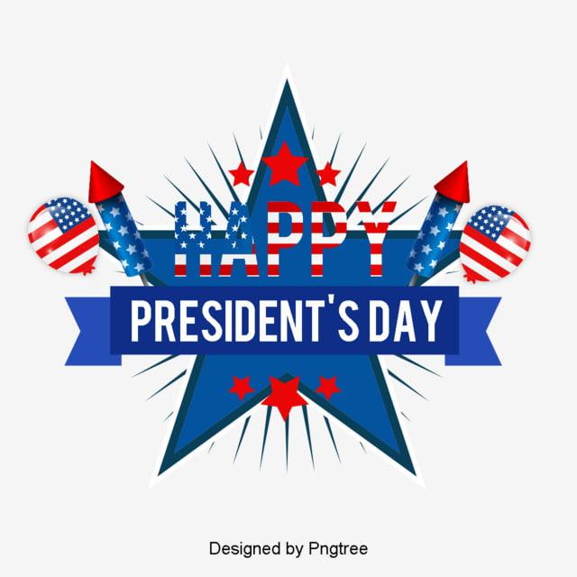 modern fashion american presidents day creative decoration elements