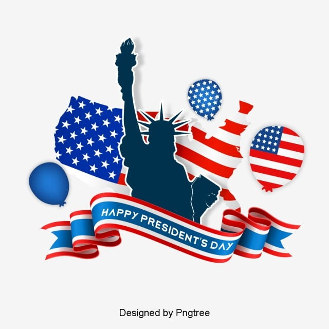 modern fashion decorative elements for us presidents day