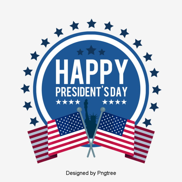 simple fashion creative american presidential day elements