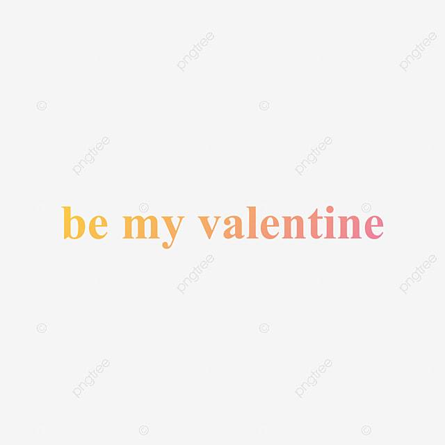 Amarillo Medio Se Mi San Valentin Arte De Palabras Gradiente