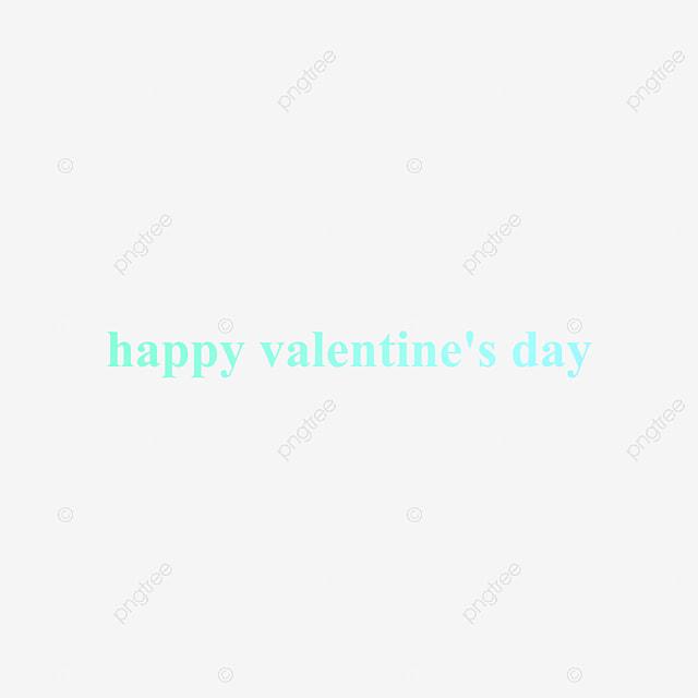 Azul Verde Feliz Día De San Valentín Arte De Palabras