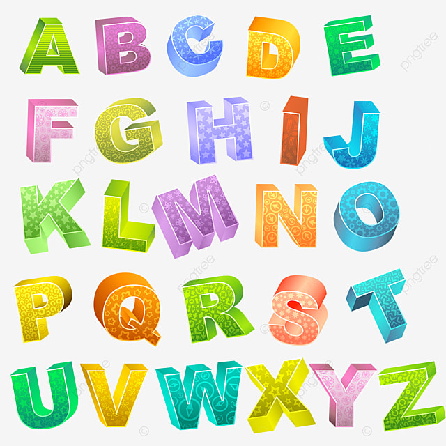 3d Floral Design Letters 3d Colouful Letters 3d Letters Art