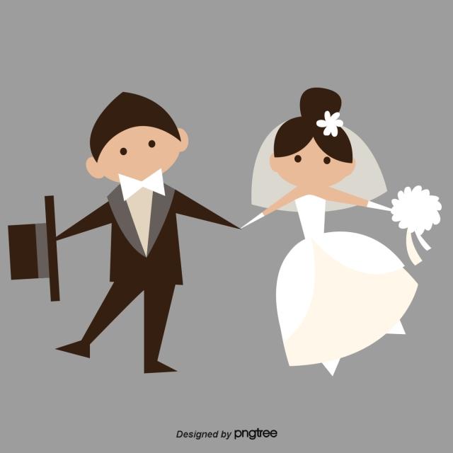 Kartun Orang Kecil Beberapa Pernikahan Pasangan Kekasih