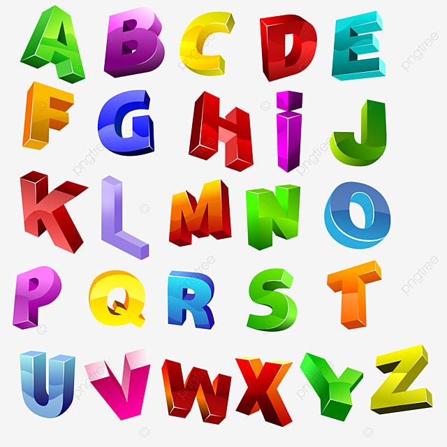 Colourful 3d Letters 3d Letters 3d Letters Vector Art Fonts
