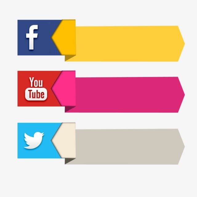 Facebook Youtube Banner Social Media 3d Icon Label Facebook Icons Youtube Icons Social Icons Png Transparent Clipart Image And Psd File For Free Download