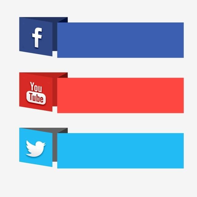 Social Media Label Facebook Youtube 3d Icon, Social, Media