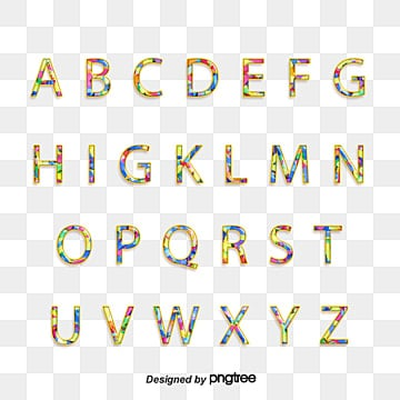 colour stereo cartoon alphabet Fonts