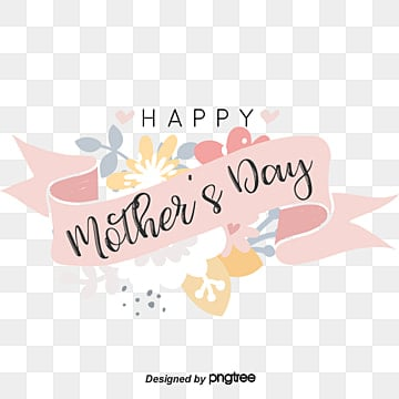 flower ribbon hand painted font mothers day decorative elements Fonts