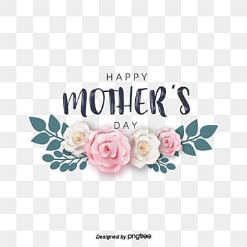 happy mothers day hand painted fonts decorate flower elements Fonts