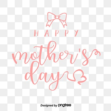 pink hand painted mother plot happy font decorative elements Fonts
