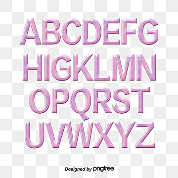 stereo cartoon english alphabet Fonts