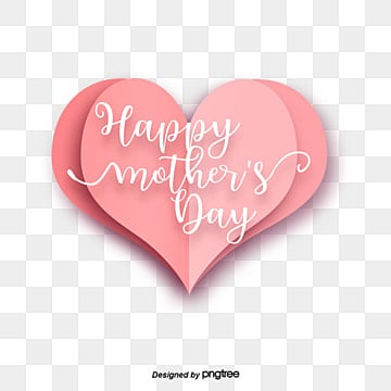 visual element design of rose pink origami love mothers day Fonts