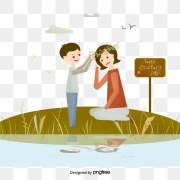cartoon creative warm mothers day elements, Son, Clip Art, Cartoon PNG and PSD