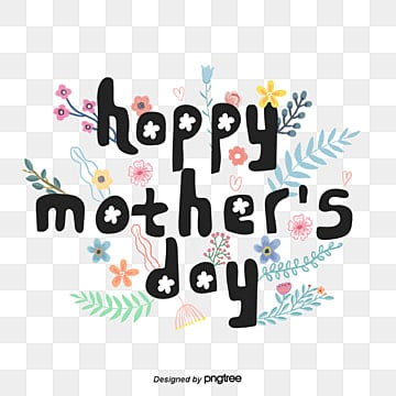 happy mothers day flower decorative font design Fonts
