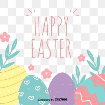 lovely cartoon easter border blessing elements, Cartoon, Lovely, Easter PNG and PSD