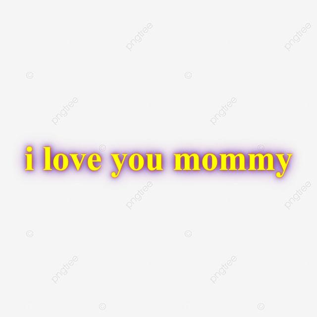 Jaune Je Taime Maman Effet De Texte Néon Effet Néon Png