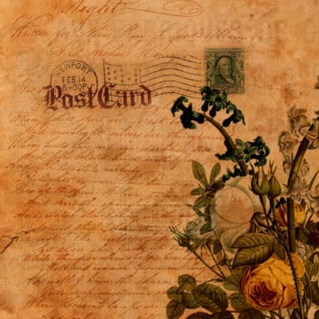 elegant floral old paper, Background, Vintage Floral, Floral PNG and PSD
