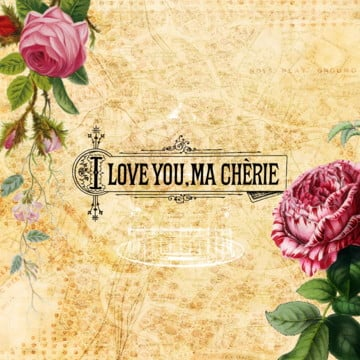 vintage floral background, Vintage Floral, Rose, I Love You Vector PNG and PSD
