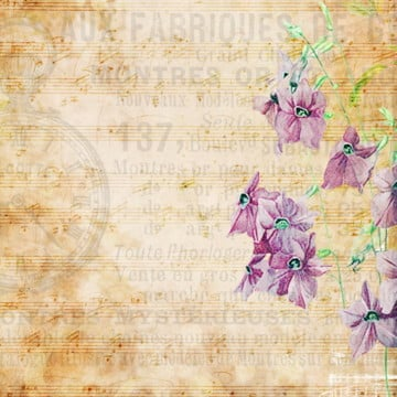 vintage floral background, Vintage Floral, Music, Lilac PNG and PSD