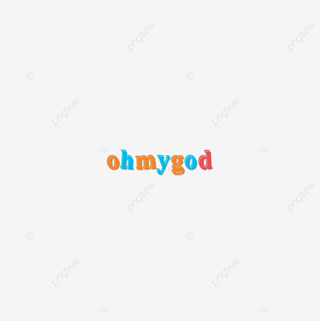 Colorida Oh Meu Deus Design De Texto Desenho Animado 3d Caligrafia