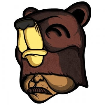 grizz, Cartoondesign, Merch, Psddesign PNG and PSD