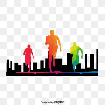 character elements of running in taiwanese youth festival, Character, Silhouette, Upward PNG and PSD