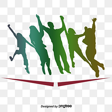 colorful character elements in jumping silhouettes of taiwan youth festival, Character, Newborn, Silhouette PNG and PSD