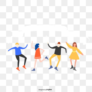 dance character elements of taiwan youth festival, Silhouette, Cartoon, Taiwan Youth Day PNG and PSD