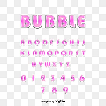 simple and lovely purple bubble alphabet digital art font design Fonts