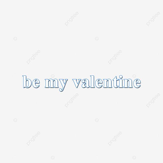 Azul Y Blanco Se Mi San Valentin Arte De Palabras Carrera