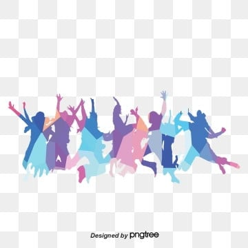 fresh and cool color block youth figure silhouette youth festival concert festival elements, Character, Silhouette, Soft Pale PNG and PSD