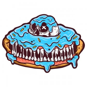 scary donut, Appareldesign, Apparel, Clothingdesign PNG and PSD