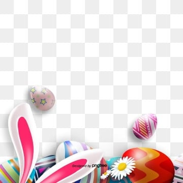 Easter Egg Rabbit Stereo Border Elements, Rabbit, Resurrection Rabbit, Easter PNG and PSD