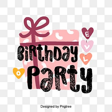 Colorful Love Love Birthday Gift Lively Party Celebrating Hand-painted Font Design, Love, Celebrating, Color PNG and PSD