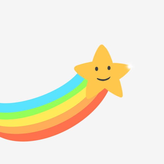손으로 그린 귀여운 무지개와 별, 자유형, 귀여운, 무지개무료 다운로드를위한 PNG 및 PSD 파일