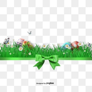Green Easter Grass Egg Frame, Rabbit, Resurrection Rabbit, Easter PNG and PSD