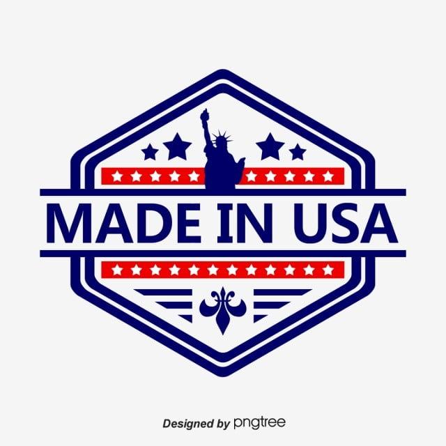 Creative American Made Logo Usa Cartoon Illustration Png