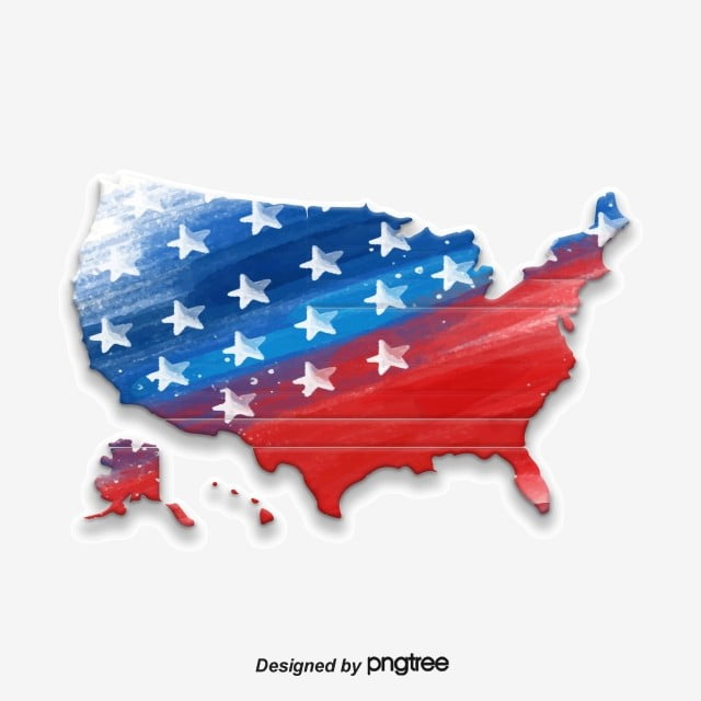Map Of America Free Download.Creative Map Of American Flag Five Pointed Star Creative National