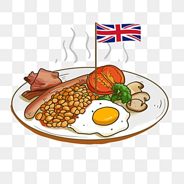 breakfast elements of british special food, Breakfast, Fried Eggs, Characteristic Food PNG and PSD